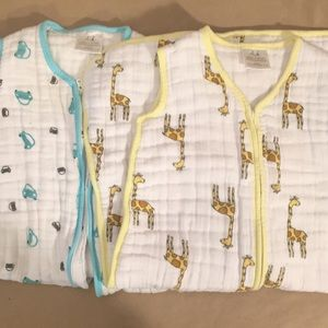 Aden + Anais 2 medium 6-12 sleepsack swaddle bags